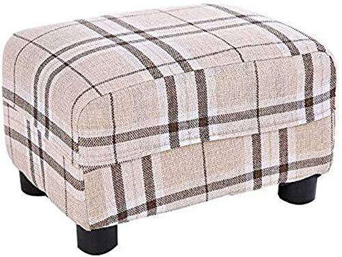 Taburete de jardín para niños interior taburete de madera 4 patas de heces de látex bancos podio sofá ropa de casa y silla de interior y al aire libre,A