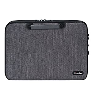 """iCozzier 13-13.3 Inch Handle Electronic accessories Strap Laptop Sleeve Case Bag Protective Bag for 13"""" Macbook Air/Macbook Pro/Pro Retina Sleeve - Dark Gray"""