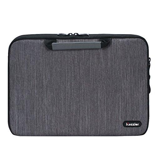 iCozzier 13-13,3 Zoll Notebook Hülle Sleeve Tasche mit Griffen/Multifunktionale Aufbewahrungs Zubehörtasche für 13 Zoll Laptop/Ultrabook/Notebook/Netbook/MacBook - Grau - 4