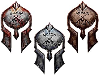 Designs by Coito 3 Pack Molon Labe Sticker Spartan Helmet Decal 2nd Amendment Gun Rights Police Army Navy Marines Cops Gladiator