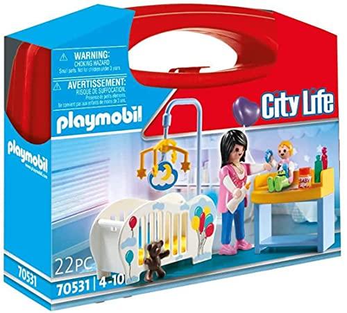 PLAYMOBIL City Life Maletín habitación bebé, A partir de 4 años (70531)