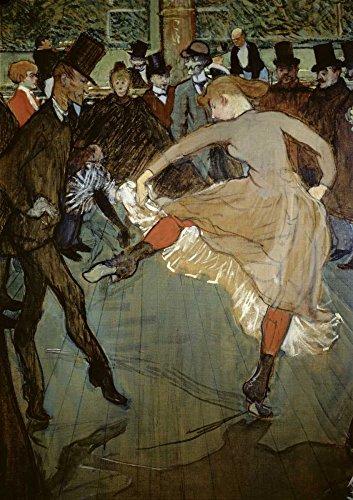 AFDRUKKEN-op-GEROLDE-CANVAS-Dans-bij-de-Moulin-Rouge-Detail-Toulouse-Lautrec-Henri-Dans-Afbeelding-gedruckt-op-canvas-100%-katoen-Opgerolde-canvas-print-Afmeting-106_X_73_cm