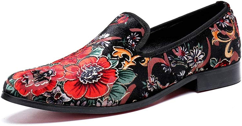 Mönstret av herr herr herr Läder Flower Design Folkbruk Retro Rock Singer Casual för Nightclub, Business, bröllop, Casual, Office,Party  högkvalitativ äkta