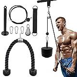 OTEKSPORT Forearm Wrist Roller Trainer, Arm Strength Blaster Exerciser, Heavy Duty Rope Body Building Training Equipment for Home Workout Gym