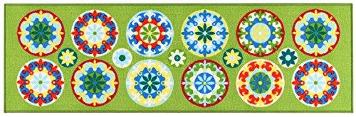 Viva, Murrine, Tappeto, Verde, 57 x 180