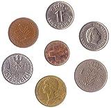 7 Monedas Diferentes Seleccionadas De Estos Países De Europa Occidental: Austria, Bélgica, Francia, Alemania, Luxemburgo, Países Bajos, Suiza