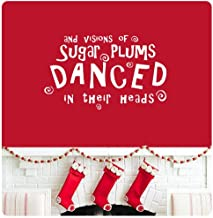 and Visions of Sugar Plums Dance in Their Heads TWAS a Night Before Christmas Wall Decal Sticker Poem Story Happy Holidays Merry Christmas Season's Greetings Color Choices