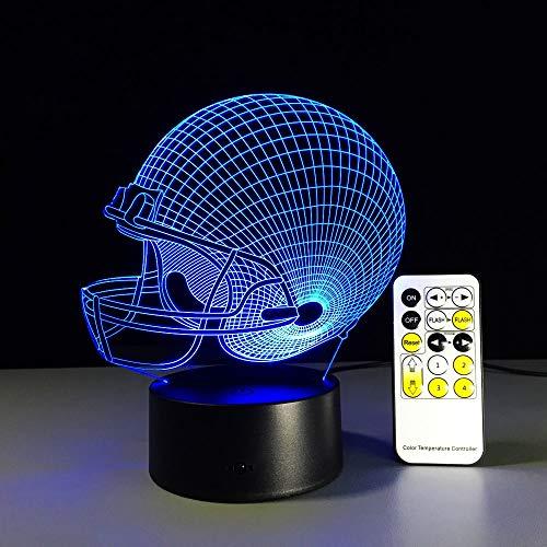 Lámpara de mesa de casco de rugby de béisbol lámpara de mesa de ilusión óptica lámpara de humor táctil Control remoto 7 colores decoración de fiesta de luz para el hogar