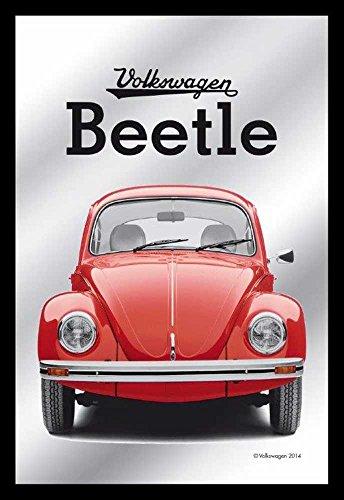 Empire Merchandising 657657 Volkswagen - Beetle/Escarabajo - Espejo con decoración y Marco imitación Madera, Culto-Espejo - 20 x 30 cm