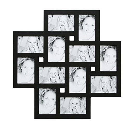 Deknudt Frames S65SK2 Cadre Multi-Photos avec 12 Ouvertures Noir 10 x 15 cm
