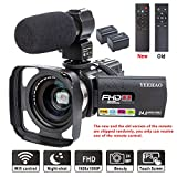 Camcorder Video Camera YEEHAO WiFi HD 1080P 24MP 16X Powerful Digital Zoom...