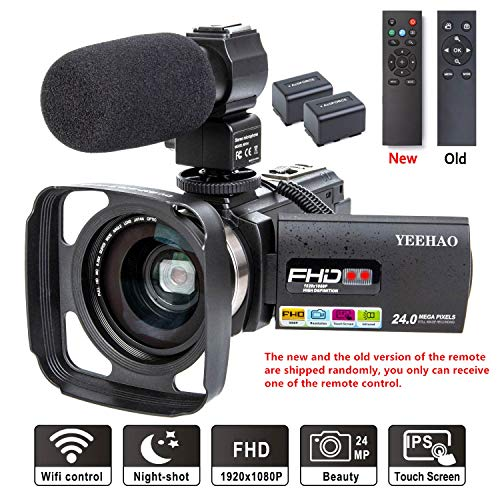 Camcorder Video Camera YEEHAO WiFi HD...