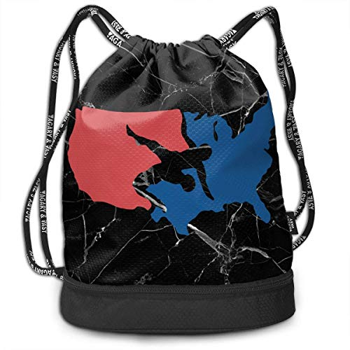 KLing Kordelzug Sporttasche USA Wrestling Herren Damen Home Travel Shopping Schultertaschen