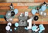 YongFoto 2,2x1,5m Vinilo Telon de Fondo Cumpleaños 1 año Hermosas Decoraciones Fondos Fotograficos Photo Booth Infantil Party Banner Niña Niño Photo Studio Props