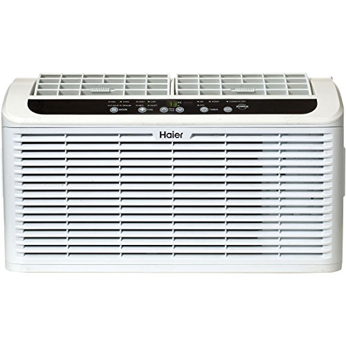 Haier ESAQ406T 22' Window Air Conditioner Serenity Series with 6,000 BTU 115V W/ LED remote control in White