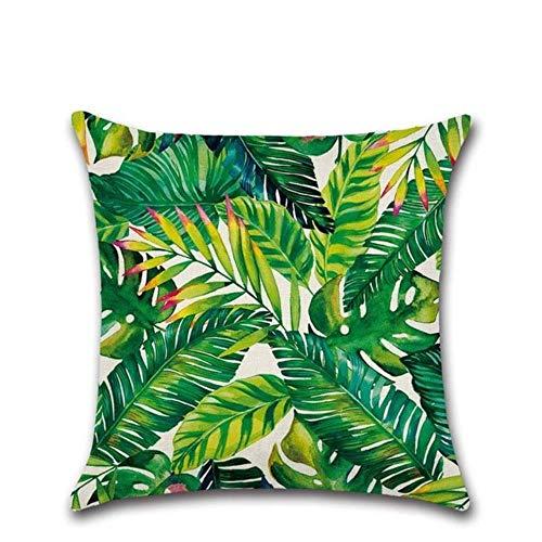 Gbc-type Tropische cactusplant Monsterera deco-kussen katoen linnen pad set handpalm groen Home Decor kussensloop