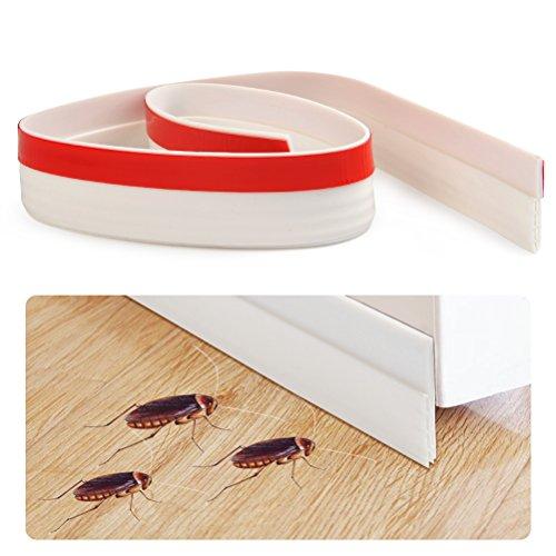 Idealeben 100 * 5cm Selbstklebende Tür Türdichtung für Türen Silikon Türdichtung Haustür Dichtungsstreifen Zugluftstopper,Dichtungsband für Türen gegen Insekt...