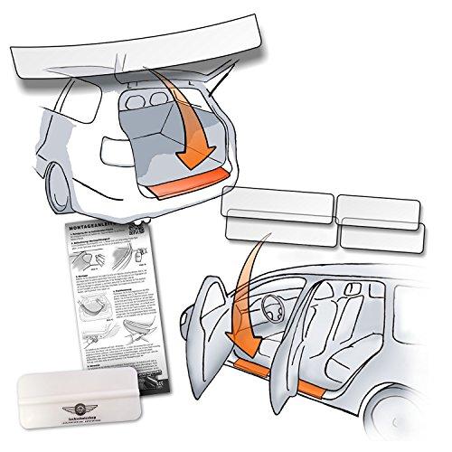 Set Passform Lackschutzfolie passend für Hyundai Kona (ab BJ 2017) im Set für Ladekante und alle Einstiegsleisten/Türeinstiege transparent 150µm, vorgeschnitten, paßgenau, selbstklebend