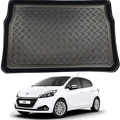 Coche Goma Alfombrillas Para Peugeot 208 (12-19), Coche Arranque Impermeable Interior Maletero Antideslizante Impermeable