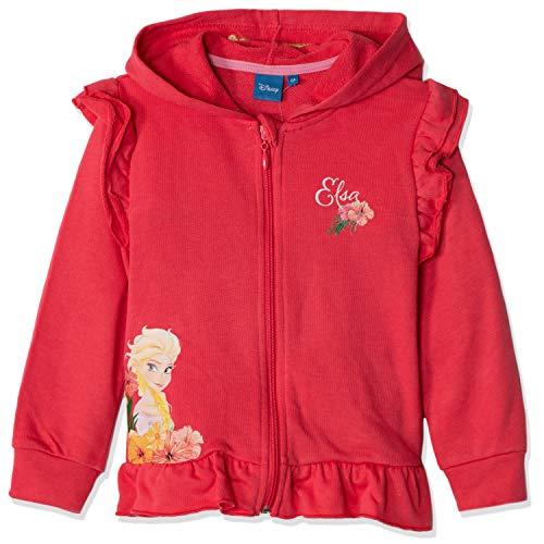 Disney Frozen - Felpa con cappuccio da bambina, con cerniera, personaggi Anna & Elsa 3-8 anni Fucsia 7-8 Anni