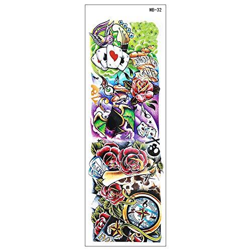 4Pcs Arte Corporal Tatuajes Temporales Falsos,Tatuajes Adhesivos Temporales Impermeable Para Adultos Hombre Mujer Niños Carpa Roja Estatua De Buda Diablo Negro Tatuajes Para Brazos Pecho Trasero Piern