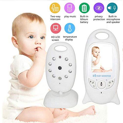 SWEET Moniteur pour Bébé avec Caméra Fonction De Vision Nocturne Automatique Caméras De Sécurité Intérieure HD Appel 2.4Hz Technologie sans Fil Berceau Intégré