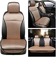 Auto Newer 5 Seats Luxury Breathable Car Seat Cover Full Set Fit Four Seasons of Universal Automotive Vehicle Cushion Cover Compatible with 90% Cars,SUV,Trucks(Full Set Beige)