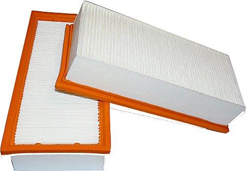 2 filtres à lamelles R 286/2, de la poussière Classe M, PES, Filtre absolument, (R 286/2 A Un Filtre Medium en polyester non tissé et est donc aussi résistantes à l'eau.) Dimensions : 300 x 140 x 68 mm pour Kärcher 6.904–284, 65/2 Eco TC, NT 65/2 Eco Me, NT 72/2 Eco TC, 65/2 Eco