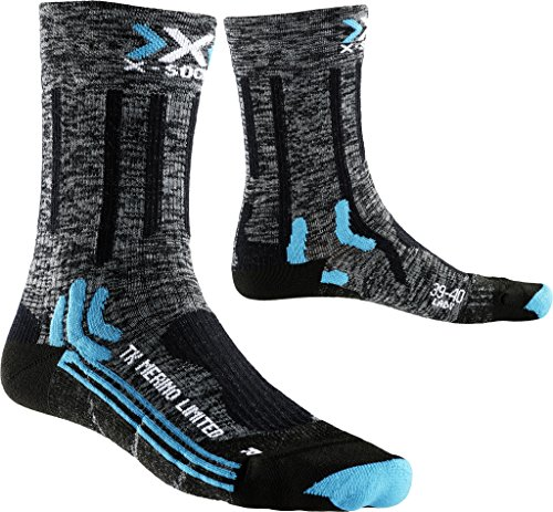 X-SOCKS Trekking Merino Limited Lady Chaussettes pour femme S gris/noir