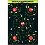 12x18 Splatter Targets. Shots Burst with a Bright Splatter Upon Impact. Instantly See Your Shots.