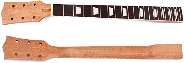 BGOO Electric Guitar Neck Replacement 22 Fret 24.75 Inch Mahogany Truss Rod Bolt On