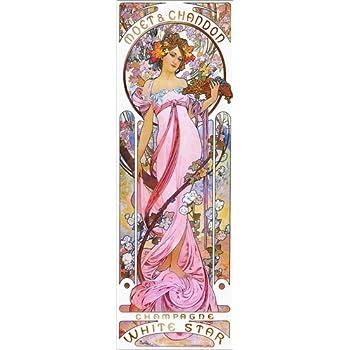 Nouveau Poster Poster 30 x 90 cm: Moet /& Chandon White Star Reproduction Haut de Gamme Rose de Alfons Mucha