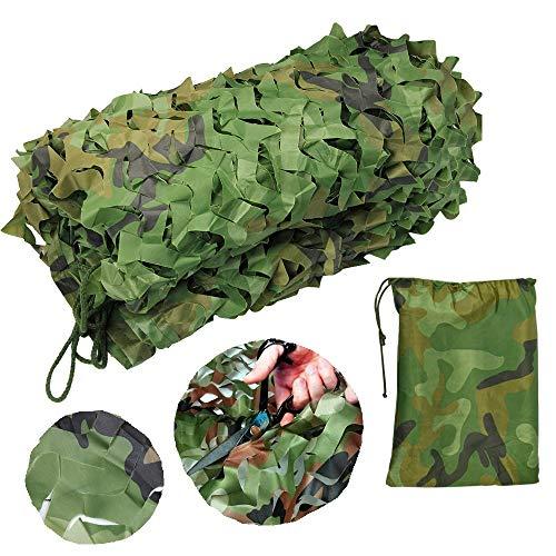 IGRMVIN Red de Camuflaje Sombra Malla de Camuflaje para Decorar y Camufar Lonas Camuflaje Militares de 2m x 3m Sombra Proteger del Viento Accesorios de Camuflaje para Caza de Verde y Marrón