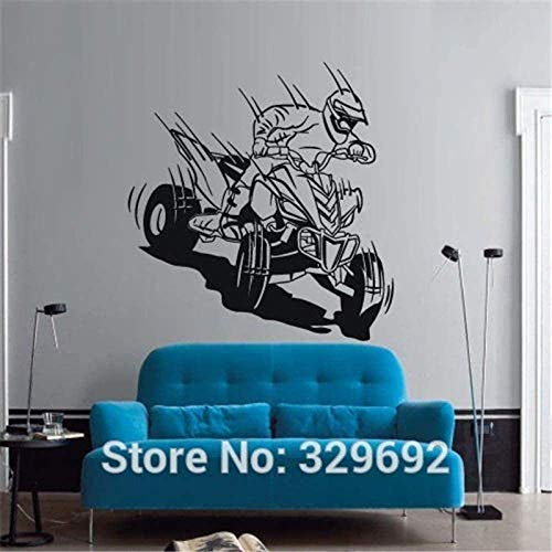 Muurstickers muurschilderingen Decals Quad Bike Race Kids Speel Home Art 45X57cm