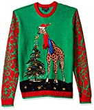Blizzard Bay Men's Ugly Christmas Sweater Animals, Red/Orange,...