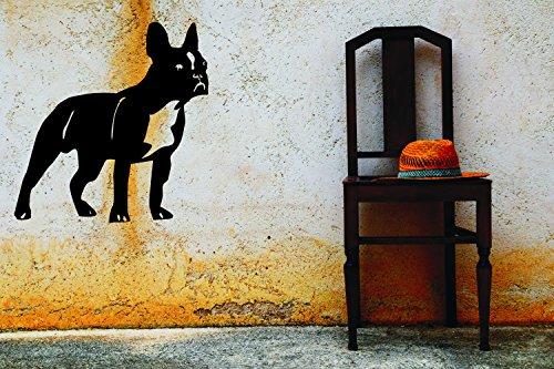 Wandtattoo: 'Französische Bulldogge' Hunde – Tiere – Haustiere – Tiermotive // Farben- und Größenwahl (Schwarz - 620 mm x 600 mm)