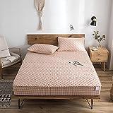 CYYyang Protector de colchón de bambú Funda de colchón y Ajustable Una Sola Pieza de sábana gruesa-24_150 * 200cm