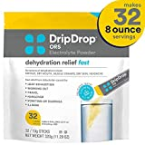 DripDrop Ors - Patented Electrolyte Powder for Dehydration Relief fast - For Heat Exhaustion,...