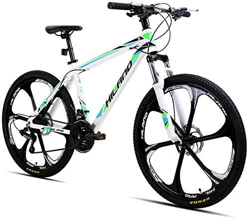 girls unisex aluminum alloy premium mountain bikes 26-inch mountain bike bicycles with fork suspension white frame bicycles one-wheel dual disc brakes and disc brakes. Boys