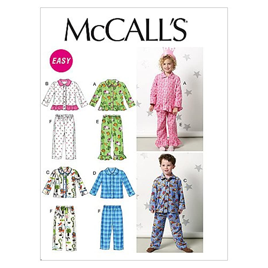 McCall's Patterns M6458 Toddlers'/Children's Tops and Pants, Size CF (4-5-6)
