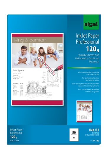 SIGEL IP182 InkJet papier Professional, A4, 50 vellen, mat speciale coating, wit, 120 g