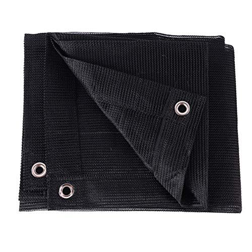Telas para toldos Black Outdoor Shade Paño con Cordón, 85% Protección UV, Patio Pascua Piscina Piscina Jardín Sun Protección Toldo (Size : 6x8m)
