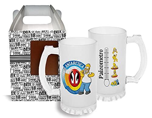 Caneca Chopp Copo Cerveja de Vidro Simpsons Presente Pai Diversos Modelos 500ml (Antarctica)