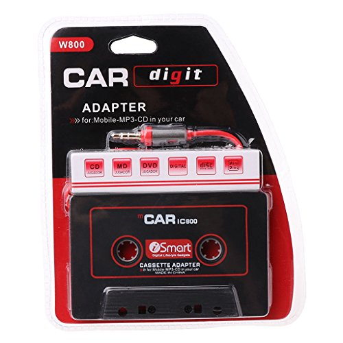 Adaptador de cinta de audio AUX para coche de 3,5 mm para reproductor de CD MP3