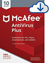 $26 » McAfee AntiVirus Plus| Internet Security|10 Device| 1 Year Subscription| [PC/Mac Download]| 2019 Ready