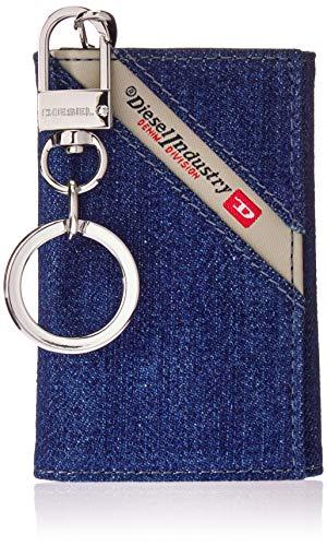 Diesel Herren DENIMLINE KEYCASE O - key holder Schlüsselanhänger, Dark Blue Denim/Black, Einheitsgröße