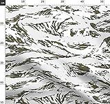 Schnee, Tiger, Tarnfarbe Stoffe - Individuell Bedruckt von