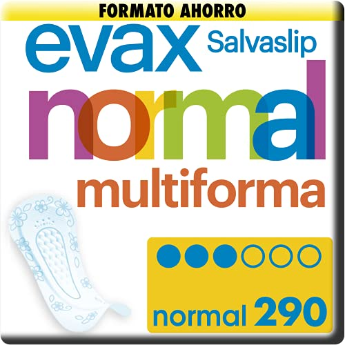 EVAX Salvaslip Normal Multiforma Protegeslips Para Todo Tipo De Braguitas, 290 Unidades
