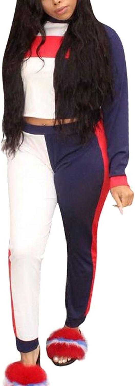 Dahuo Women Tracksuit Casual Sweatshirt + Sweatpants TwoPieces Outfit