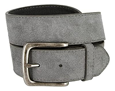 Casual Jean Suede Leather Belt for Women (Gray, 40)